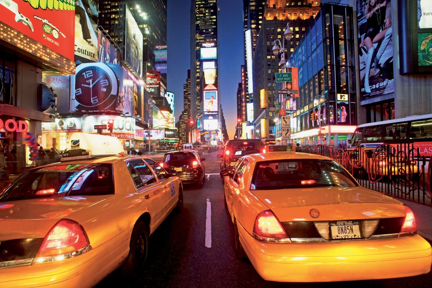Captivating GIANT WALLPAPER WALL MURAL NEW YORK TIMES SQUARE YELLOW TAXI THEMED DESIGN Part 2